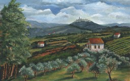 The Olive Grove, Todi 2, Italy <br> 16 x 20