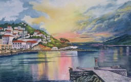 Hydra Island, Greece <br> 20 x 16